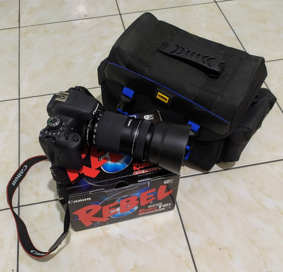 Kit Fotográfico Câmera Canon T6i + Lente 55-250 + Acessórios