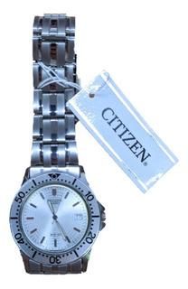 Reloj Citizen Hombre Malla De Acero Deportivo Bi-0450