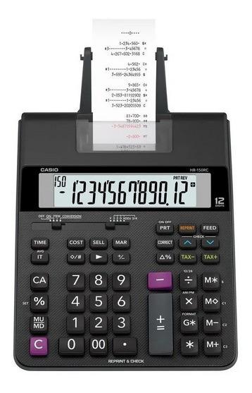 Calculadora C/ Impressão 12 Dígitos Bivolt Top Hr150rc Casio