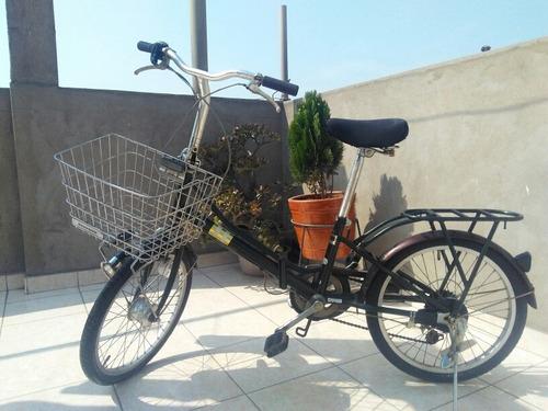 Imagen 1 de 10 de Bicicleta Japonesa Retro Bridgestone  Con Canasta Japonesa