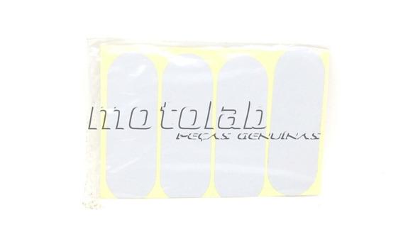 Adesivo Refletivo Branco Para Capacete (4 Unidades)