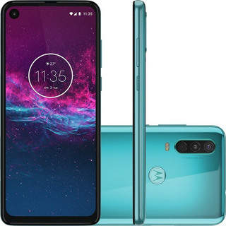 Celular Motorola One Action Verde 128gb 4gb Ram 6.3 Full Hd
