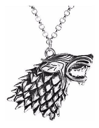 Colar Game Of Thrones Direwolf Lobo Jon Snow