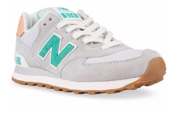 Descuento Tenis New Balance 574 Gris Para Mujer