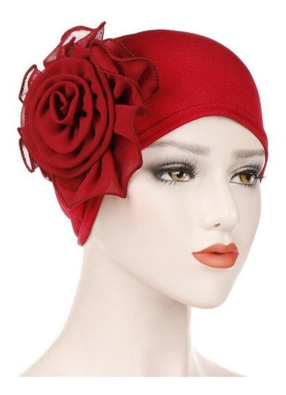 Turbante Flor Gajos Varios Colores Moda Chic Fiesta Quimio Alopicia Cancer