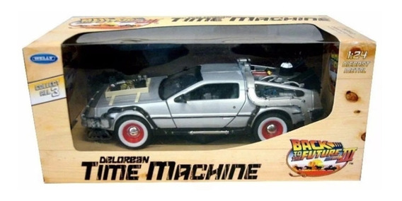Delorean Back To The Future 3 - Time Machine - Welly 1/24