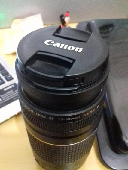 Lente Canon Zoom Ef 75-300mm Em Perfeito Estado