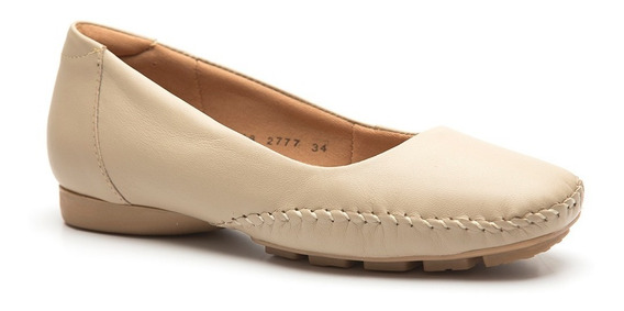 Sapato Feminino 2777 Em Couro Bege Doctor Shoes
