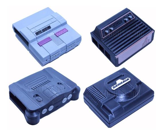 Kit 4 Case Raspberry Pi -snes- Atari- Mega Driver- N64