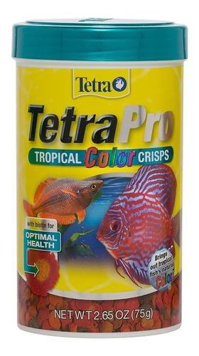 Imagen 1 de 1 de Tetra Tetrapro Tropical Color Crisps 75 G. Alimento Peces Nutricion Dieta Equilibrada