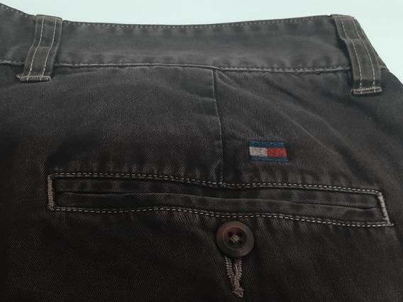 Calça Tommy Hilfiger Sarja Original Marrom Customizada 42