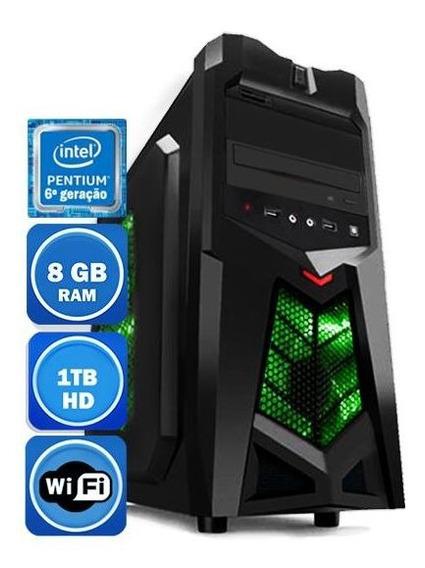 Pc Intel Pentium 6º Geração 8gb Hd 1tb Teclado E Mouse Wi-fi