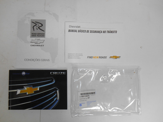 Manual Do Proprietário Cruze 2015 Original Gm 52115978