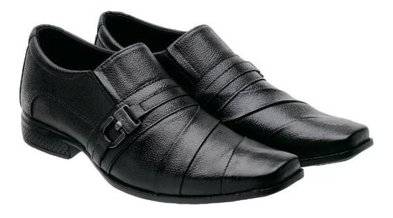 Kit Sapatos Masculinos Couro Legítimo Dois Pares