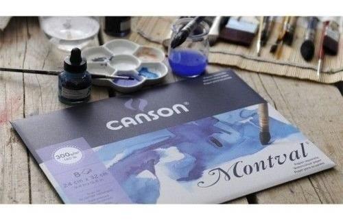 Block Canson Montval 300grs T/a3 G/fino 12 Hojas Microcentro