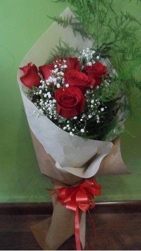 Ramo De 6 Rosas Envio Gratis Floreria Foto Real