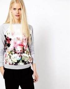 628cb5ede Blusa Em Cetim Floral - Calçados, Roupas e Bolsas no Mercado Livre ...