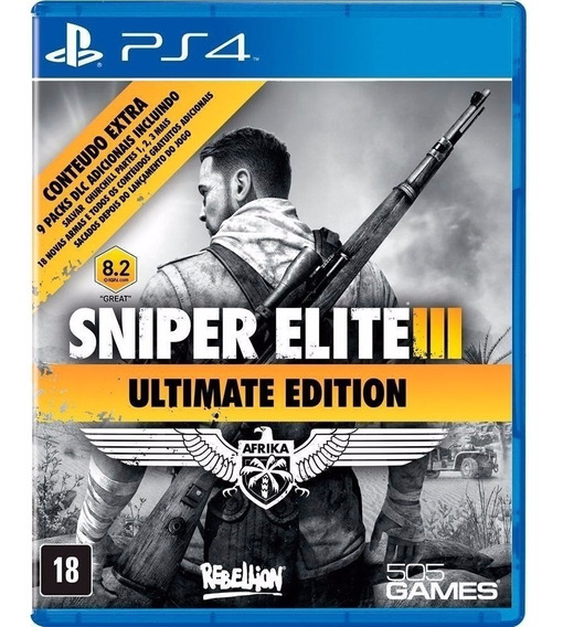 Sniper Elite Iii 3 + 9 Dlc - Midia Fisica Lacrado - Ps4