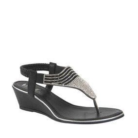 f07eff456 Sandalias Negras Vi Line Cuña Enfrente Cerrado Mujer - Zapatos en ...