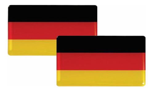 Imagem 1 de 6 de 2 Bandeira Adesiva Resinada Resina Alemanha Frete Grátis Vw