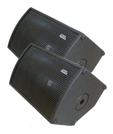 Caixas Ativa + Passiva Retorno De Palco Fal Oversound 12 Pro
