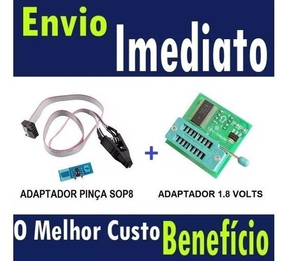 Alicate Pinça Clip Soic8 Sop8+adaptador 1.8v(pronta Entrega)