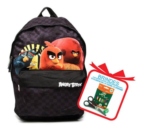 Mochila Escolar Infantil Masculina Angry Birds