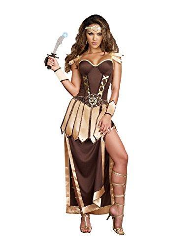 Dreamgirl Women's Remember The Trojans Dress, Marrón