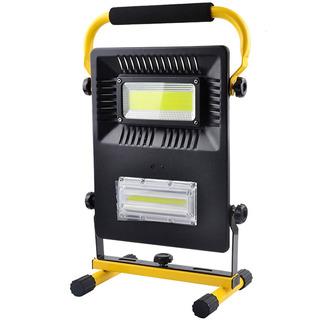 Refletor Emergência Led Cob Resistente Água 3 Intensidades + Sinal Emergência Recarregável Bivolt 110v/220v Lanterna