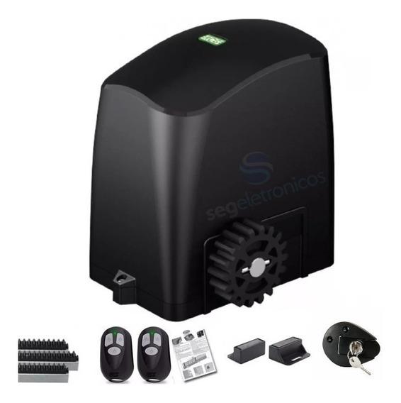 Kit Motor Portão Eletrônico Deslizante 1/4 Rcg 4,2m Crem