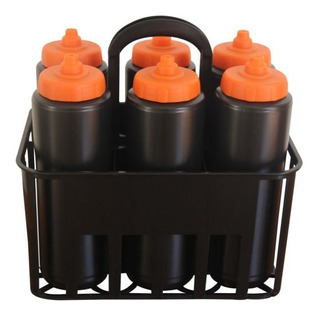 Kit 6 Squeeze Válvula Automática (igual Gatorade) + Suporte