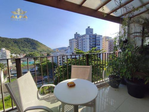 Imagem 1 de 29 de Cobertura À Venda Na Praia Do Tombo, 4 Dormitórios, 1 Vaga. - Co0036