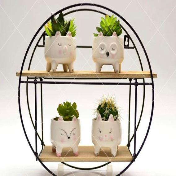 3 Vasos De Bichinhos Detalhes Rosa Vasinhos S/ Plantas