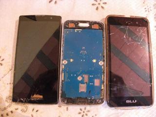 Lote De 3 Celulares Samsung. Lg E. Blu Todas As Placa Funcio