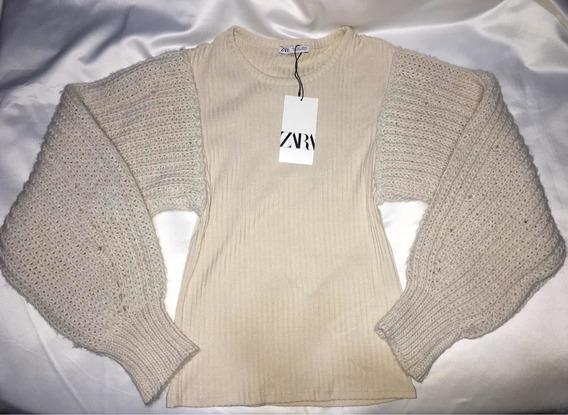 Sweater Zara Mangas Bombachas Talla S Envió Gratis