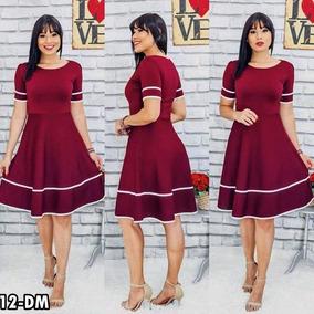 089481b55 Vestido Tubinho Atacado - Vestidos Femeninos Casual Violeta-escuro ...
