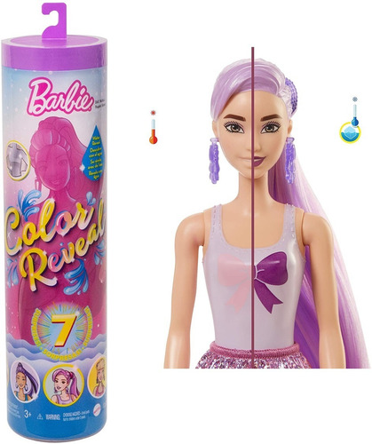 Barbie Color Reveal Shimmer Doll 7 Sorpresas Muñeca Sorpresa
