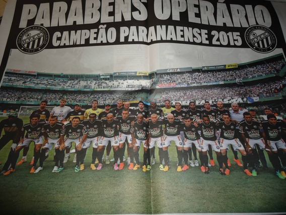 Poster Operário Ferroviário Ponta Grossa Campeão Paraná2015