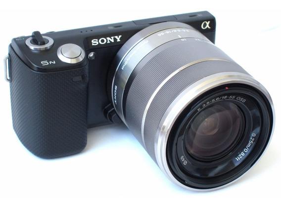 Câmera Preta Sony Nex-5n Alpha Série Nex 5 Profissional