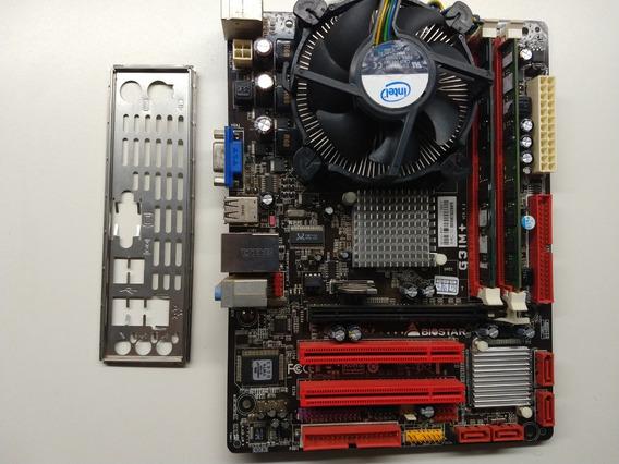 Kit Placa Mãe G31m + Cpu Dual Core 775 + 4gb Ddr2