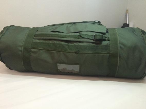 Bolsa Tipo Saco Vo Resistente Camping Militar Verde Preto