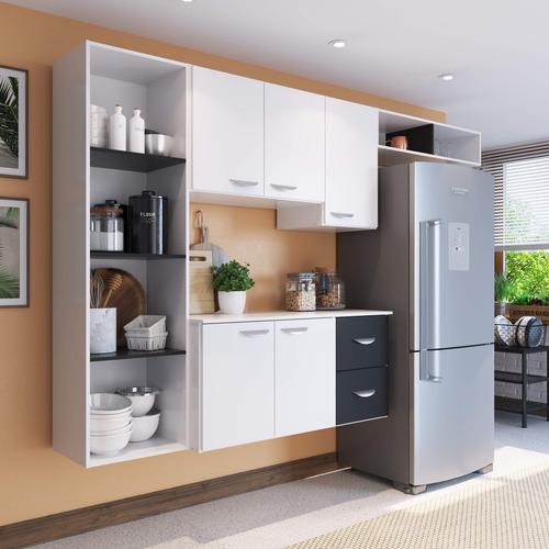 Imagem 1 de 4 de Amário De Cozinha Compacta 4 Peças 5 Portas Anabela Eg