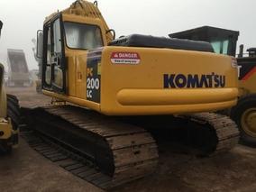 01) Excavadora Komatsu Pc200lc-6 Con Sistema Hidraulico