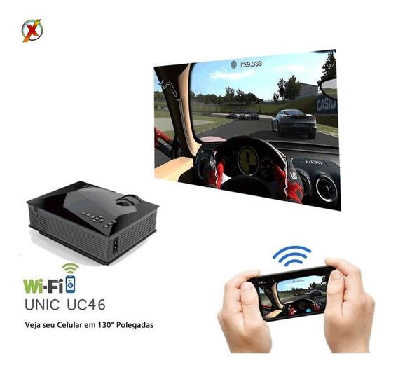 Mini Projetor Led Profissional 1200lumens Com Wifi Miracast
