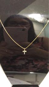 Cordão Em Ouro Com Crucifixo Cravejado De Brilhantes