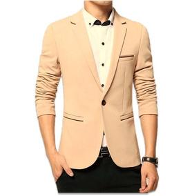 Blazer Bege Slim Masculino - ( Formal Ou Casual ) Elegance