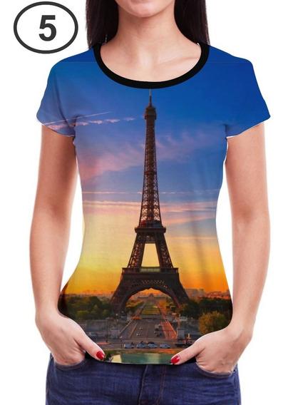 Kit 3 Camisetas Camisas Femininas Roupas Blusa Black Friday