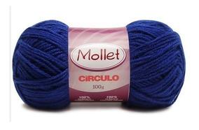 Kit Lã Mollet 100g C/ 10 Novelos Círculo Tricô Croche Artes