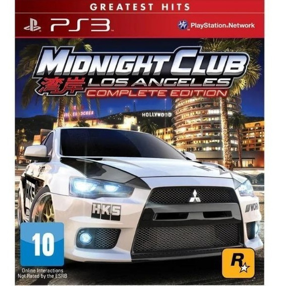 Jogo Ps3 Midnight Club Los Angeles Complete Edition Greatest