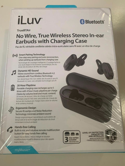 Fone Bluetooth Iluv Truebtair - Caixa Carregadora - Brasília